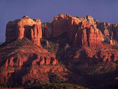 Cathedral Rock at Sunset, Sedona, Arizona, USA-Charles Sleicher-Photographic Print