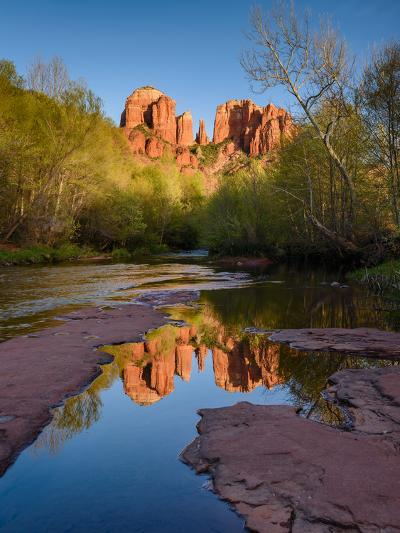 Cathedral Rock Reflection-Michael Blanchette Photography-Photographic Print