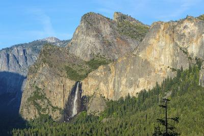 Cathedral Rocks East and Bridalveil Fall from Tunnel View in Yosemite National Park-Chris Hepburn-Photographic Print
