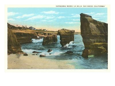 Cathedral Rocks, La Jolla, California--Art Print