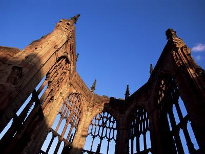 Cathedral Ruins in Evening Light, Coventry, West Midlands, England, United Kingdom-Jean Brooks-Photographic Print