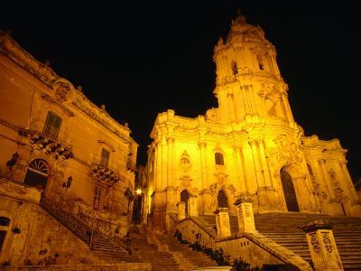 Cathedral San Giorgio, Modica, Italy-Wayne Walton-Photographic Print