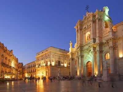 Cathedral Santa Maria Delle Colonne, Syracuse, Sicily, Italy-Katja Kreder-Photographic Print