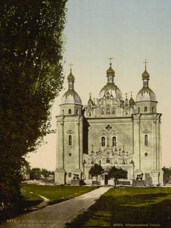 Cathedral St. Peter and St. Paul, Kiev in Russia , c.1890-c.1900