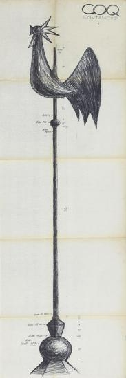 Cathédrale de Coutances, coq du clocher--Giclee Print
