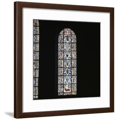 """Cathédrale Notre Dame de Chartres. Vitrail : """"L'arbre de Jessé""""--Framed Giclee Print"""