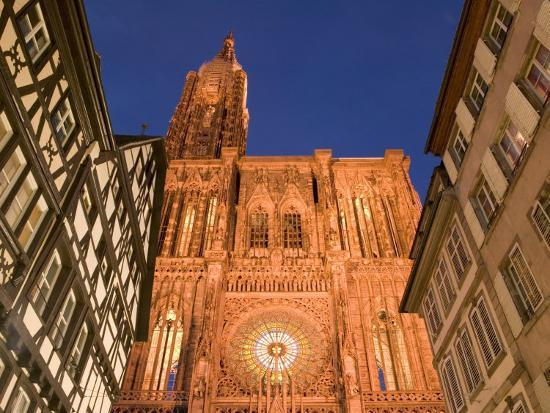Cathedrale Notre Dame, Strasbourg, Alsace, France-Walter Bibikow-Photographic Print