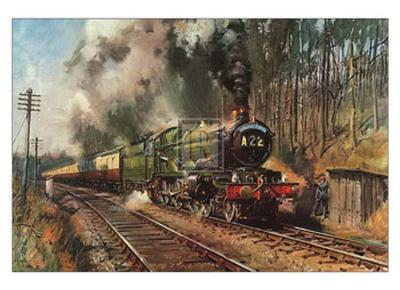 Cathedrals Express-Terence Cuneo-Art Print