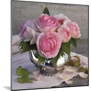 Roses and Teapot by Catherine Beyler