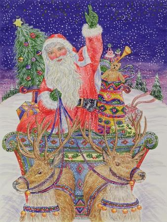 Father Christmas Setting Out on Christmas Eve
