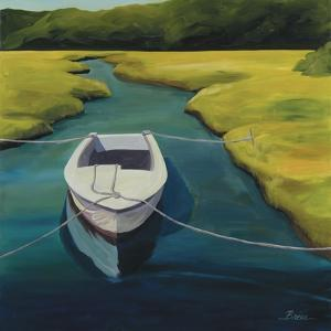 Boat in Cove by Catherine Breer