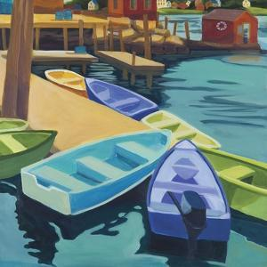 Boats Vinal Haven by Catherine Breer