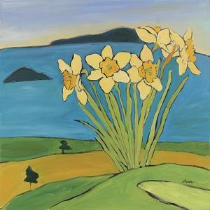 Daffodils on the Hill by Catherine Breer