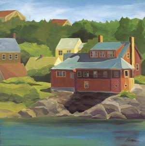 Red House Monhegan by Catherine Breer