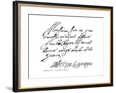 Catherine De Gonzagues, Wife of Henry I--Framed Giclee Print