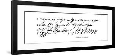 Catherine De Medecis--Framed Giclee Print