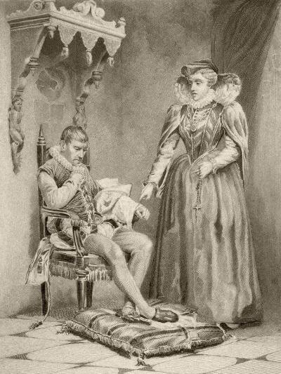 Catherine De'Medici with Her Son Charles IX--Giclee Print