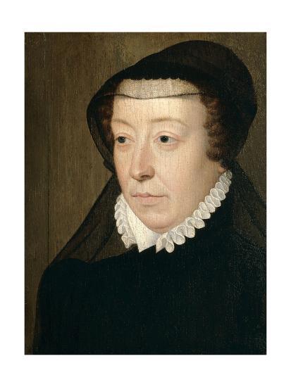 Catherine De Medicis, Queen of France-Francois Clouet-Giclee Print