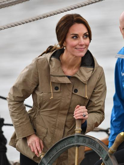 Catherine, Duchess of Cambridge at the wheel-Associated Newspapers-Photo