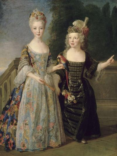 Catherine-Eléonore-Eugènie de Béthisy (1707-1767), future princesse de Montauban, et son frère-Alexis Simon Belle-Giclee Print