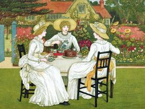 Afternoon Tea, 1886 by Catherine Greenaway