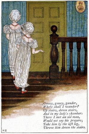 Illustration for Goosey, Goosey Gander, Where Shall I Wander?, Kate Greenaway (1846-190)
