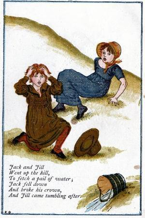 Illustration for Jack and Jill Went Up the Hill, Kate Greenaway (1846-190)