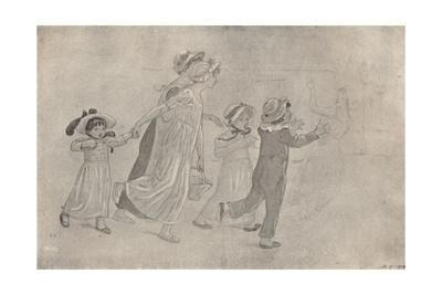 'Water-Colour Drawing for Colour Wood-Block Print', 1880-1890, (1923)