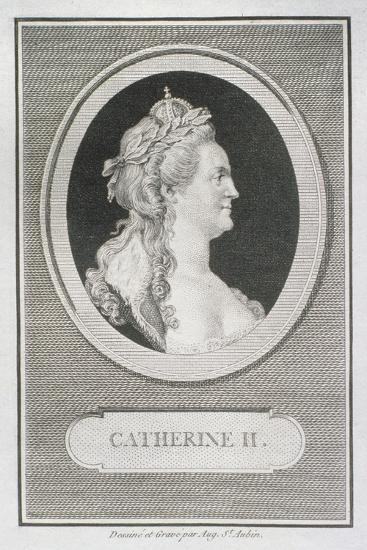 Catherine II (1729-96)-Augustin De Saint-aubin-Giclee Print