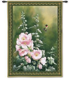 Hollyhock Hummer by Catherine Mcclung