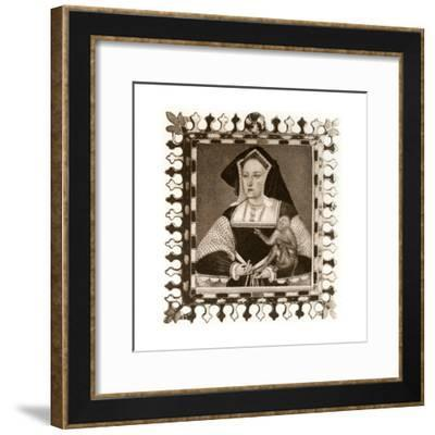 Catherine of Aragon, 16th Century--Framed Giclee Print