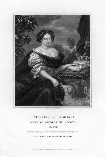 Catherine of Braganza, Queen of Charles Ii, 1833-S Freeman-Giclee Print