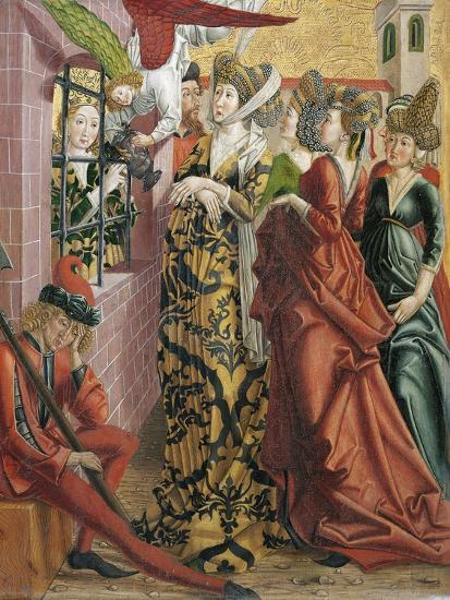 Catherine Visited in Prison by Maxentius's Wife-Friedrich Pacher-Giclee Print