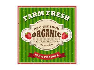 Retro Farm Fresh Poster Design by Catherinecml