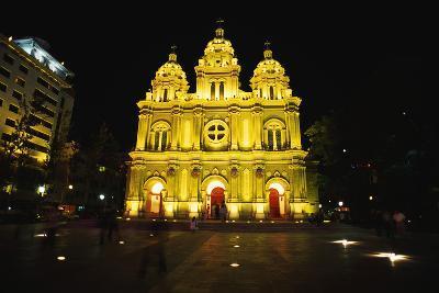 Catholic Church in Beijing at Night-Macduff Everton-Photographic Print