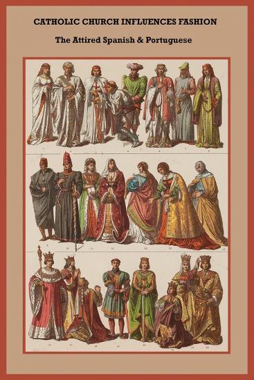Catholic Church Influences Spanish and Portuguese-Friedrich Hottenroth-Art Print
