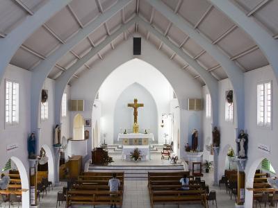 Catholic Church, Philipsburg, St. Maarten, Netherlands Antilles, Leeward Islands, West Indies-Richard Cummins-Photographic Print