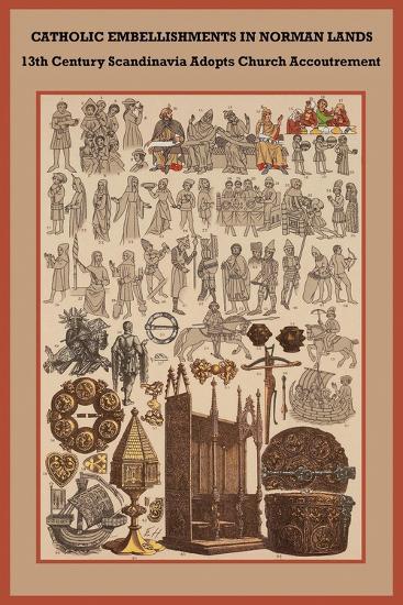 Catholic Embellishments in Norman Lands-Friedrich Hottenroth-Art Print