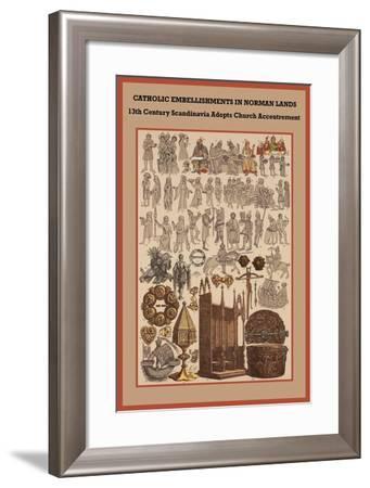 Catholic Embellishments in Norman Lands-Friedrich Hottenroth-Framed Art Print