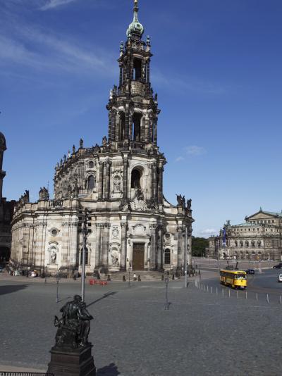 Catholic Hofkirche (Kathedrale St.Trinitatis) (St.Trinity Cathedral), Dresden, Saxony, Germany--Photographic Print