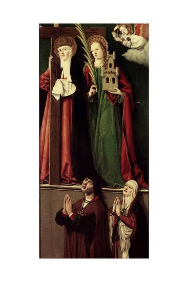 Catholic Monarchs with Saints Helena and Barbara--Giclee Print