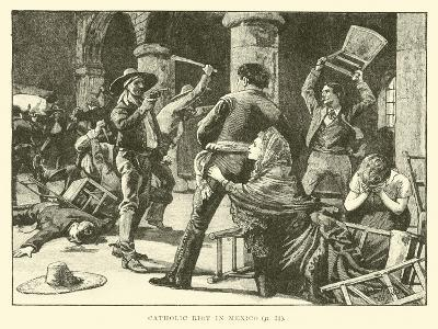 Catholic Riot in Mexico--Giclee Print