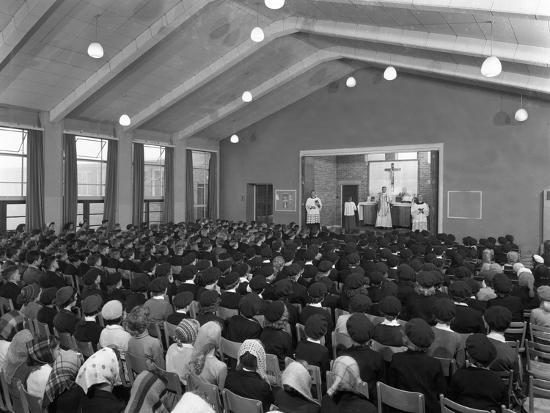 Catholic School Mass, South Yorkshire, 1967-Michael Walters-Photographic Print