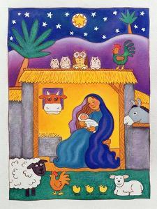A Farmyard Nativity, 1996 by Cathy Baxter
