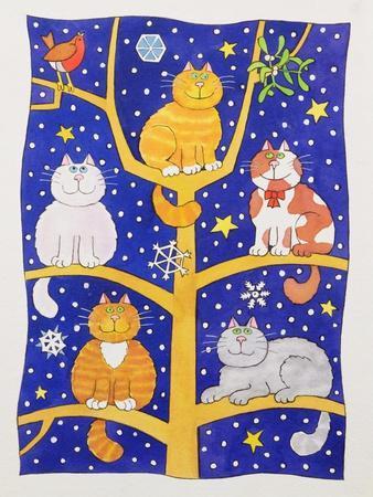 Five Christmas Cats