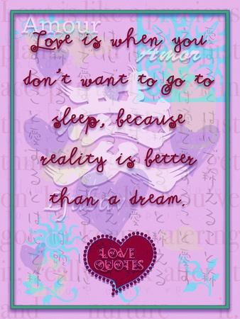 Love Is When You Don'T Want to Go to Sleep