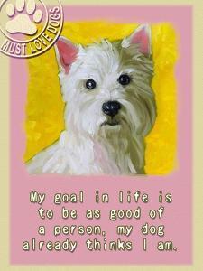 Yellow Westie by Cathy Cute