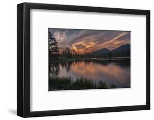 USA, Colorado, Rocky Mountain National Park. Sprague Lake at Sunset by Cathy & Gordon Illg
