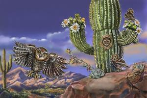 Nature Recycles Spread 9 Elf Owl Spread by Cathy Morrison Illustrates