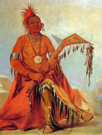 George Catlin Native American With War Club